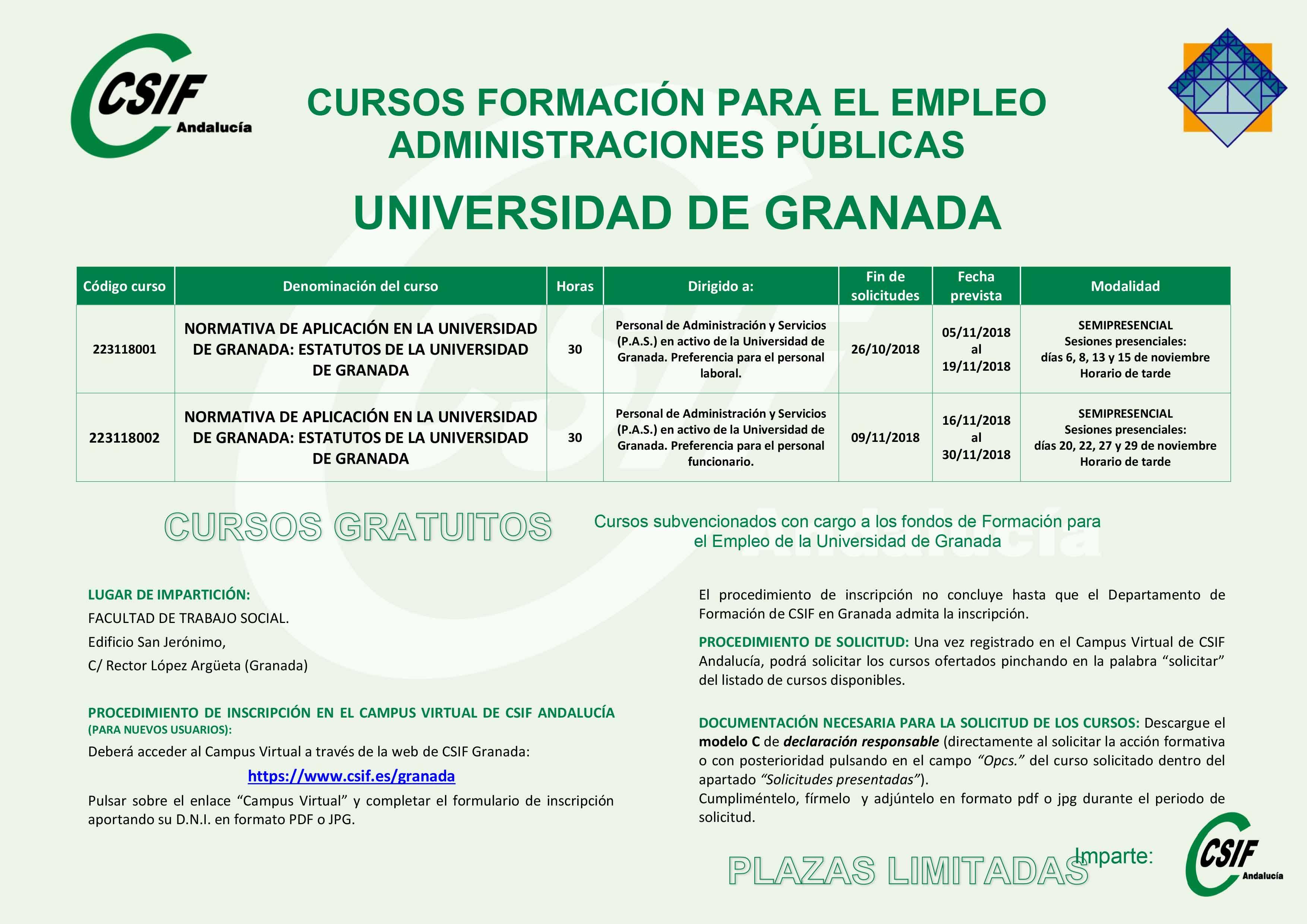 Curso CSIF Universidad de Granada