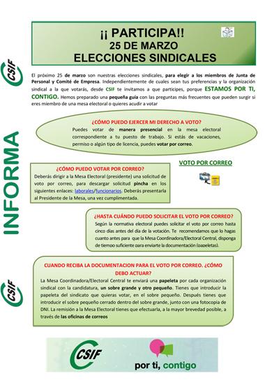 INFORMACION CSIF ELECCIONES AGCM 1