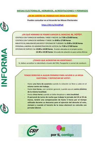 INFORMACION CSIF ELECCIONES AGCM 2