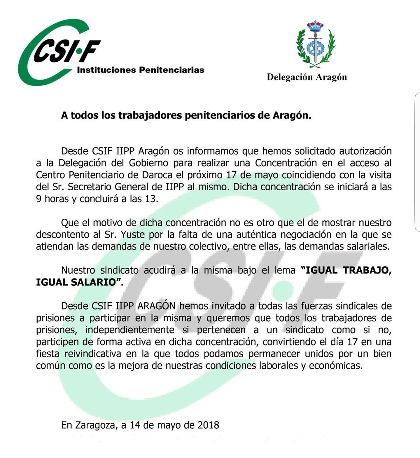 Concentracion CP Daroca