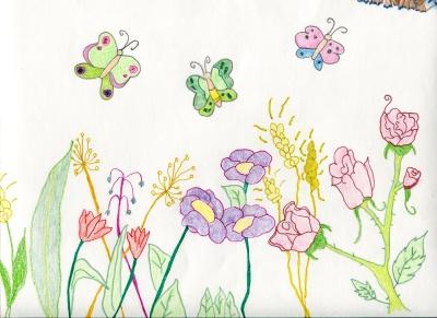Así es como hay que ver la vida (Julia Escribano) Concurso de pintura infantil CSIF Ciudad Real