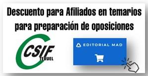 CSIF DESCUENTO AFILIADOS EDITORIAL MAD