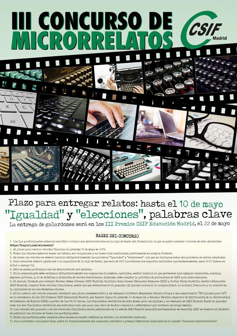 Concurso Microrrelatos CSIF Madrid