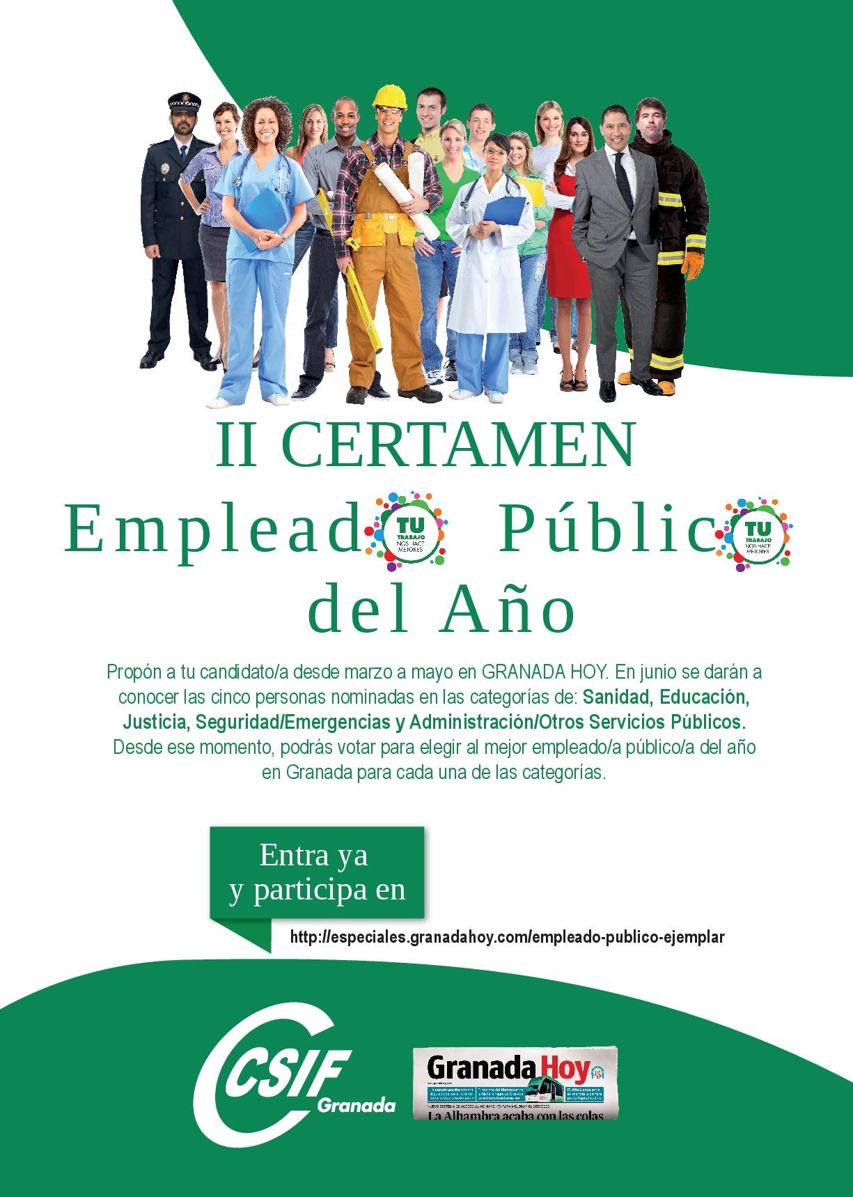 Cartel II Certamen Empleado Público del Año Granada