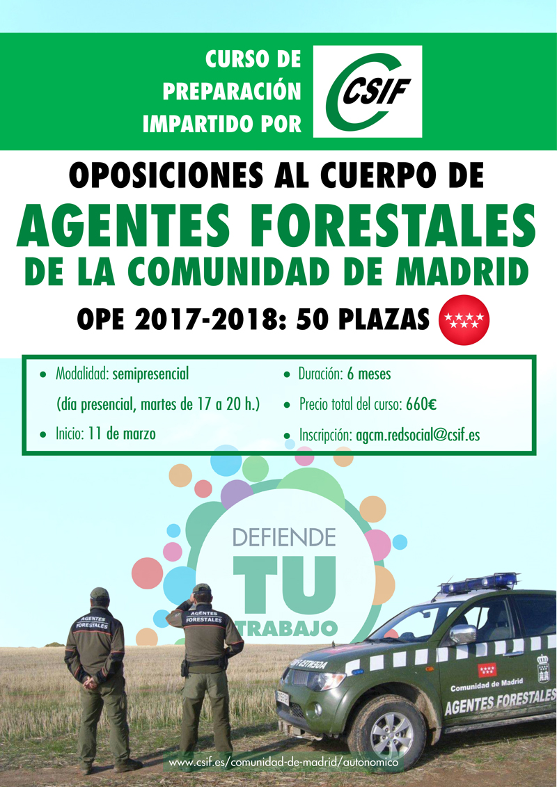 CARTEL OPE 17-18 AGENTES FORESTALES CSIF