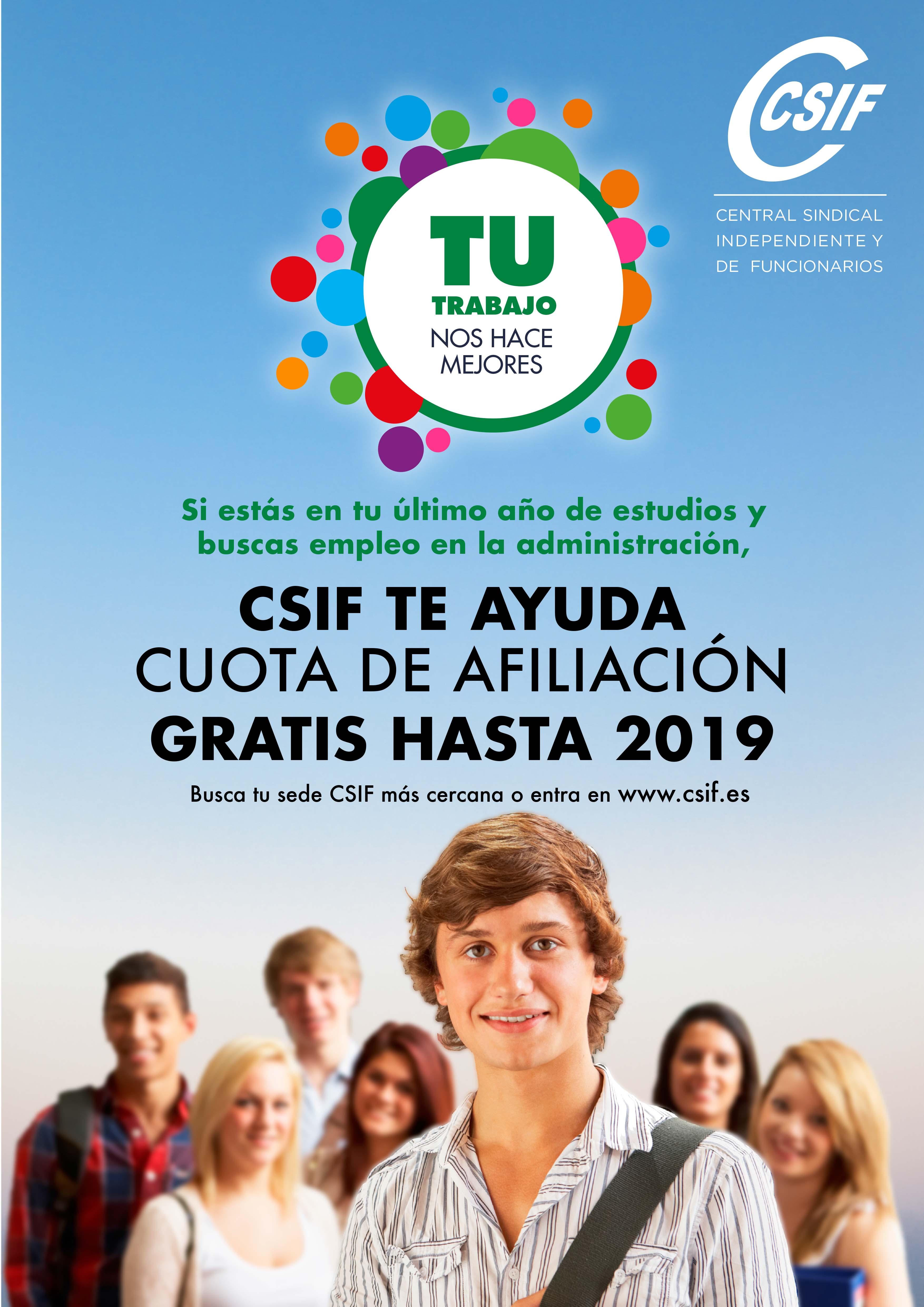 Campaña afiliación gratis estudiantes