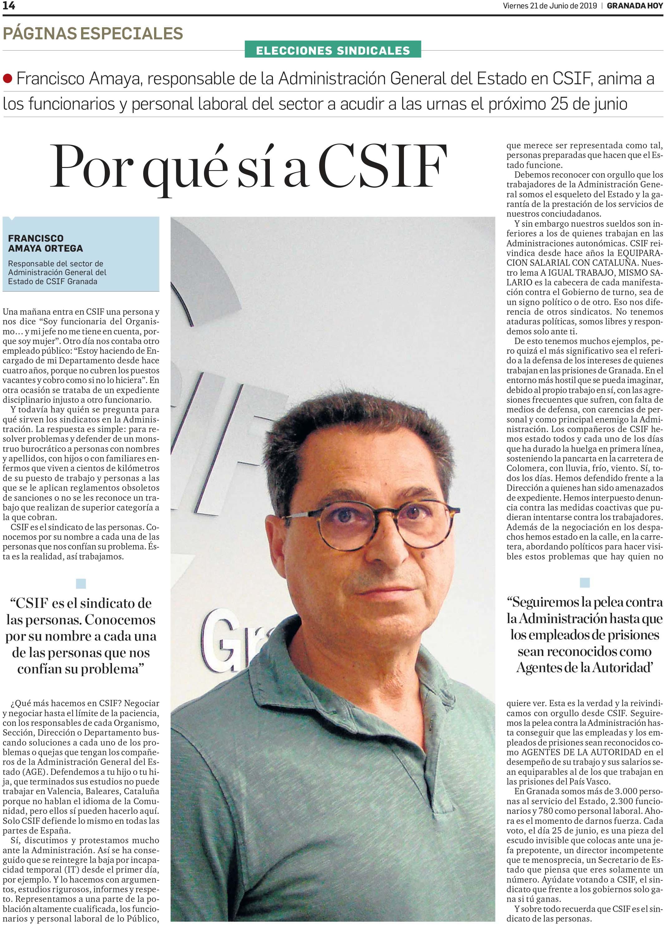 Elecciones sindicales AGE Granada 25Junio