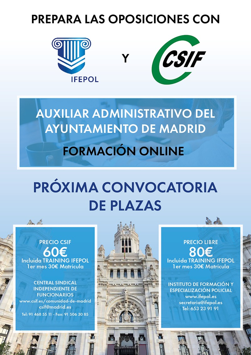 CSIF Ifepol curso online aux admvo