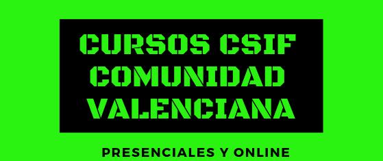 Cursos CSIF Comunidad Valenciana