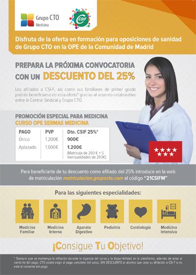 Cursos CTO CSIF Medicina