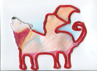 Dragobo, mi dragónlobo (Inés Muñoz) Concurso de pintura infantil CSIF Ciudad Real
