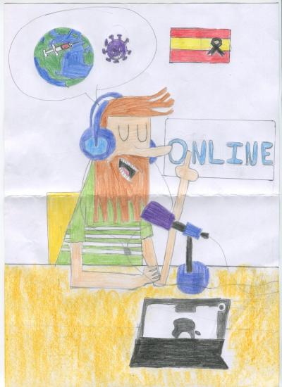 Esperanza (Miguel Simarro) Concurso de pintura infantil CSIF Ciudad Real