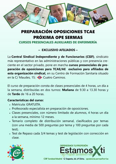 CSIF formación TCAE