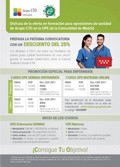 Cursos CTO CSIF Enfermeria