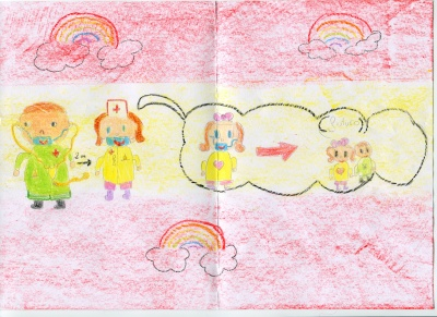 Gracias (María Simarro) Concurso de pintura infantil CSIF Ciudad Real