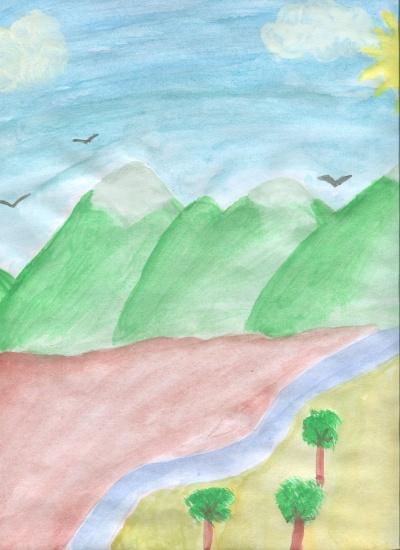 La belleza de la naturaleza (Laura Calle) Concurso de pintura infantil CSIF Ciudad Real
