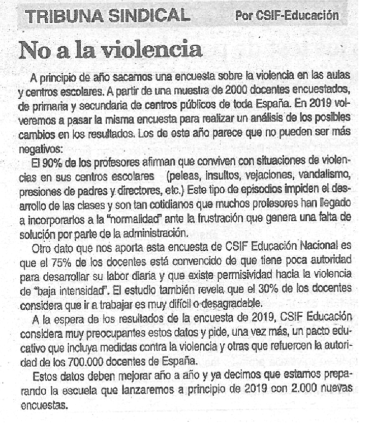 No más violencia.