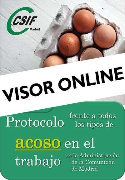 Portada web visor online Protocolo de  acoso