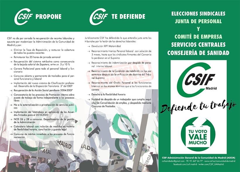 Programa Electoral CSIF agcm sscc sanidad 1