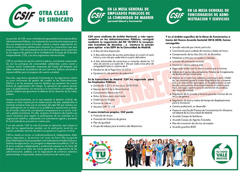 Programa Electoral CSIF agcm sscc sanidad 2