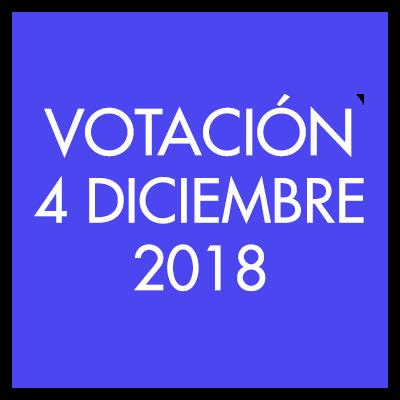 Votación 4 Diciembre 2018