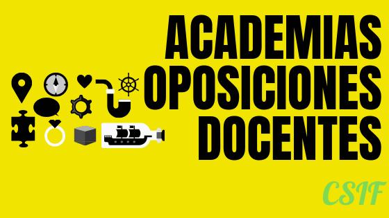 Convenios con academias para Oposiciones Docentes