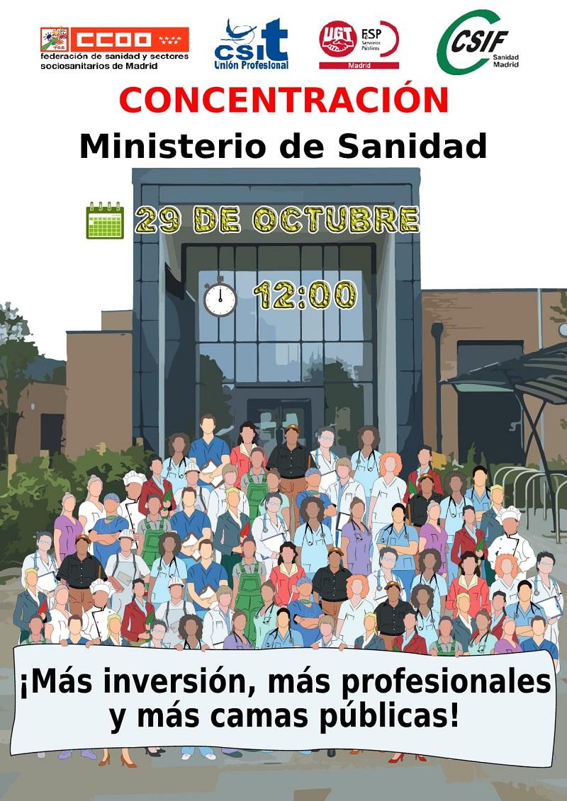 Concentración CSIF Sanidad 29 oct