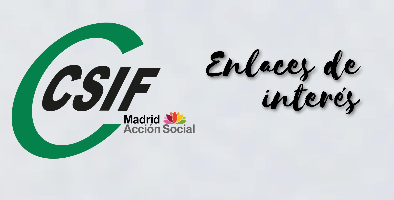 Enlaces de interés del Departamento de Mayores de Acción Social CSIF Madrid