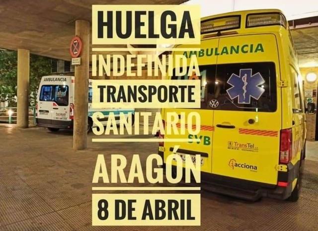 Los trabajadores del transporte sanitario aragonés convocan huelga indefinida. - ÁNGEL DE CASTRO