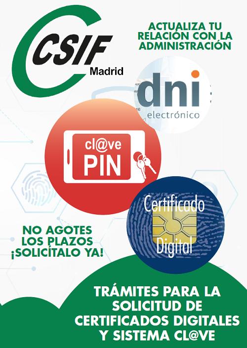 Díptico CSIF certificado digital