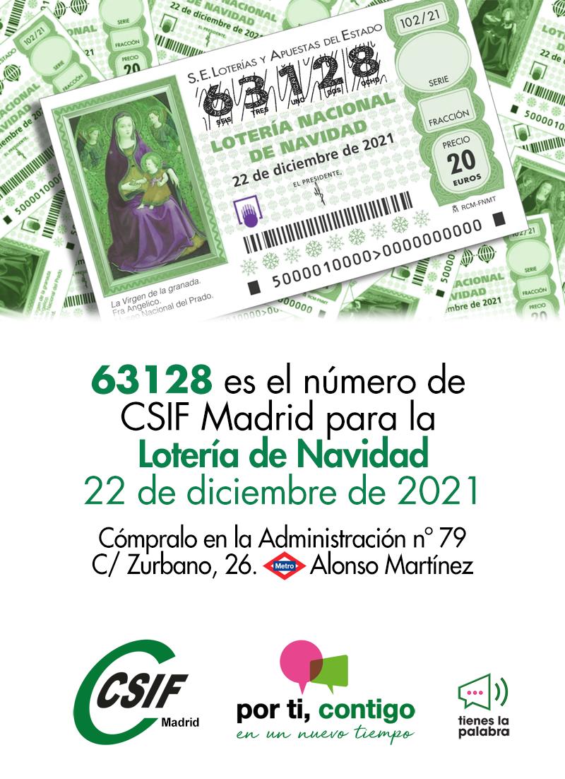 Lotería Navidad 2021 CSIF Madrid