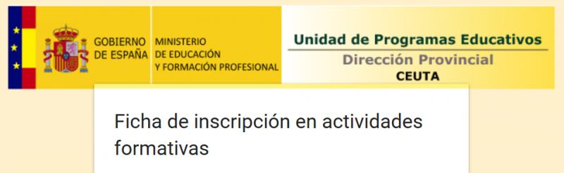Cómo inscribirse en actividades formativas del MEFP.