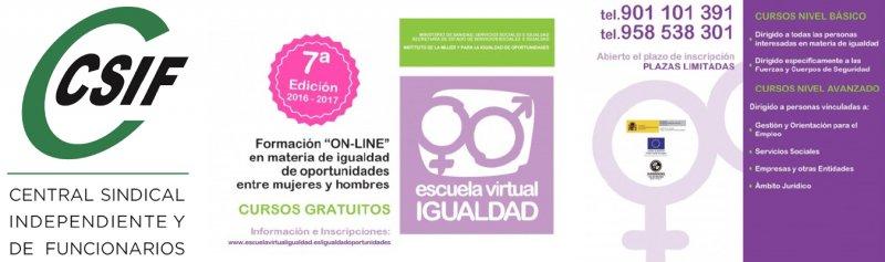 CURSOS ESCUELA VIRTUAL DE IGUALDAD PARA DELEGADOS