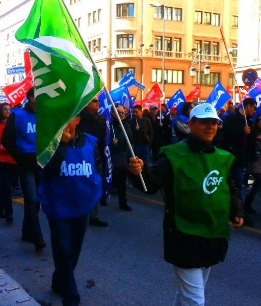 CSIF Ceuta participa en la manifestación de Madrid
