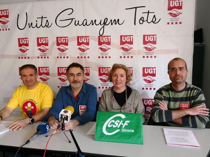 En la foto, Rosario Ligero, Responsable Correos CSIF Girona