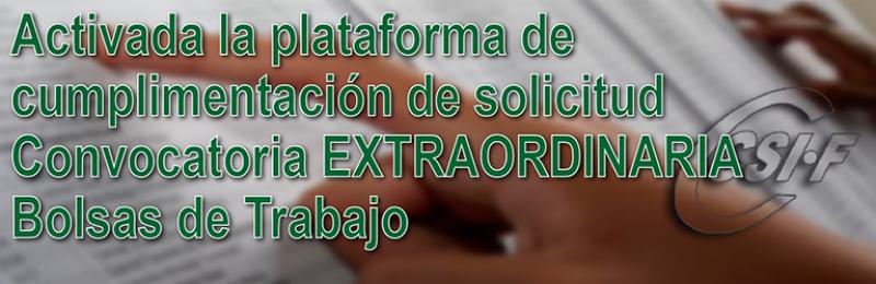 Activada la plataforma de solicitud de la Bolsa Extraordinaria de Trabajo (Cuerpos 590 - 591 - 592 y 594)