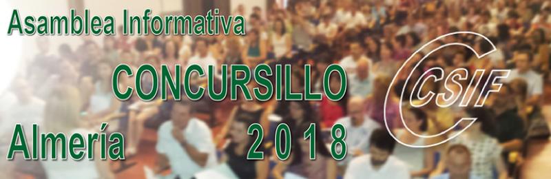 """Almería - Asambleas Informativas sobre Comisiones de Servicio (entre las que se encuentra el """"CONCURSILLO"""")"""