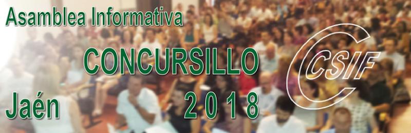 """Jaén - Asambleas Informativas sobre Comisiones de Servicio (entre las que se encuentra el """"CONCURSILLO"""")"""