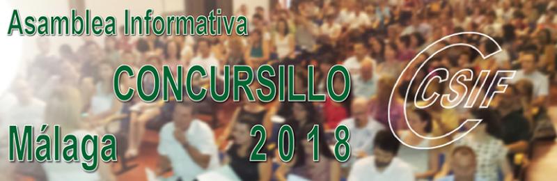 """Málaga - Asambleas Informativas sobre Comisiones de Servicio (entre las que se encuentra el """"CONCURSILLO"""")"""