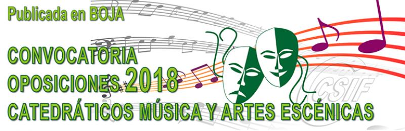 Publicada CONVOCATORIA de las Oposiciones al Cuerpo de Catedráticos de Música y Artes Escénicas