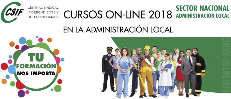 CURSOS ON-LINE CSIF 2018 - SECTOR NACIONAL ADMINISTRACIÓN LOCAL
