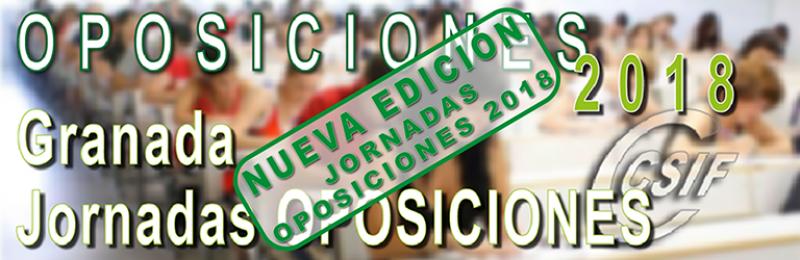 Granada - NUEVAS Sesiones Informativas Oposiciones 2018 (PAPD y MTAP)