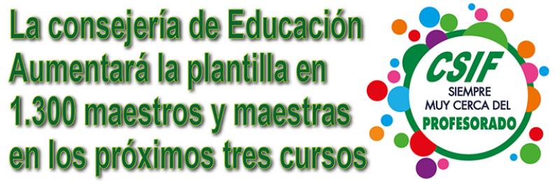 La Consejería de Educación aumentará el próximo curso la plantilla docente en 500 maestros y maestras para reforzar la Primaria en Andalucía