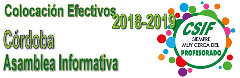 Córdoba - Asamblea Informativa. Colocación de Efectivos 2018-2019