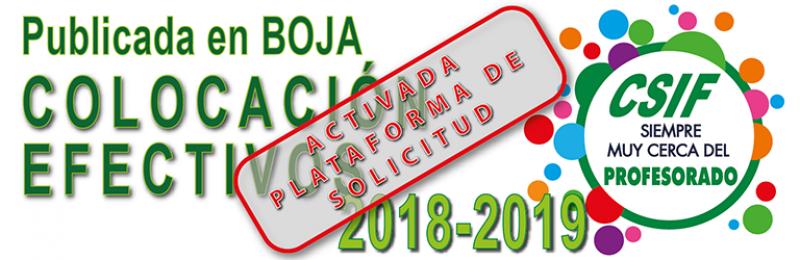 Publicada en BOJA la convocatoria de Adjudicación de Destinos curso 2018-2019