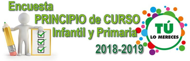 ENCUESTA DE PRINCIPIO DE CURSO EN INFANTIL Y PRIMARIA 2018-2019