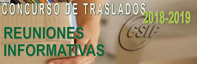 Reuniones informativas del Concurso de Traslados 2018/2019