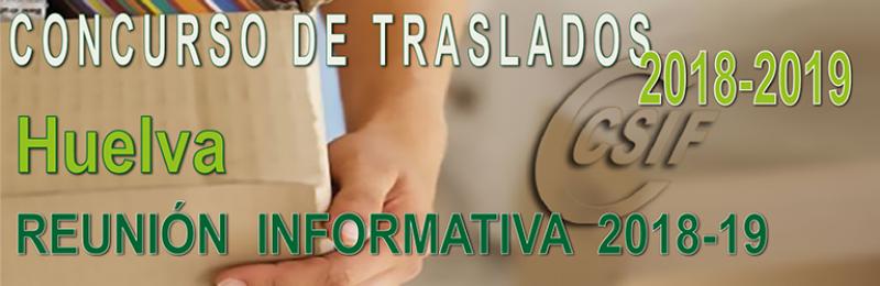 Huelva – Reunión Informativa Concurso de Traslados 2018-19