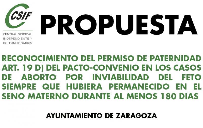 PROPUESTA DE RECONOCIMIENTO DEL PERMISO DE PATERNIDAD