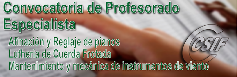 Convocatoria de Bolsa Extraordinaria para especialidades de Conservatorios Superiores de Música